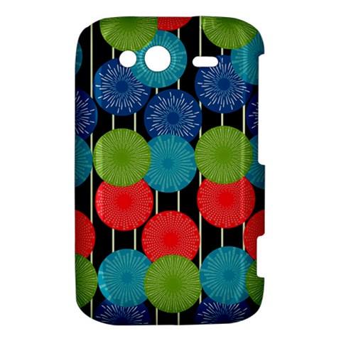 Vibrant Retro Pattern HTC Wildfire S A510e Hardshell Case