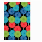 Vibrant Retro Pattern Small Garden Flag (Two Sides) Front