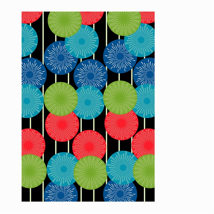 Vibrant Retro Pattern Large Garden Flag (Two Sides)