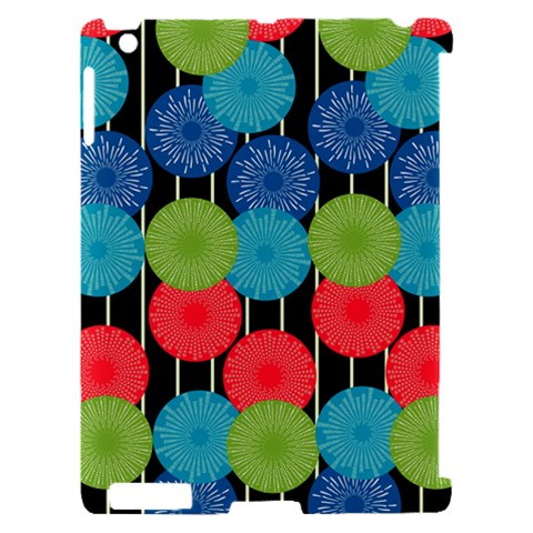 Vibrant Retro Pattern Apple iPad 2 Hardshell Case (Compatible with Smart Cover)