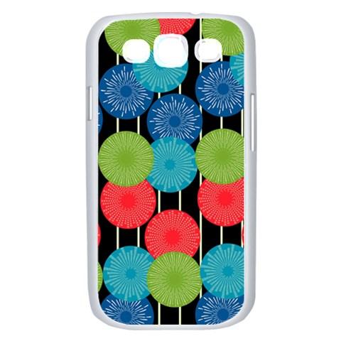Vibrant Retro Pattern Samsung Galaxy S III Case (White)