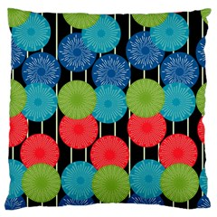 Vibrant Retro Pattern Large Cushion Case (One Side)