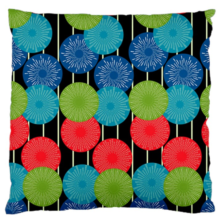Vibrant Retro Pattern Large Cushion Case (Two Sides)
