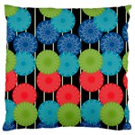 Vibrant Retro Pattern Large Cushion Case (Two Sides) Back