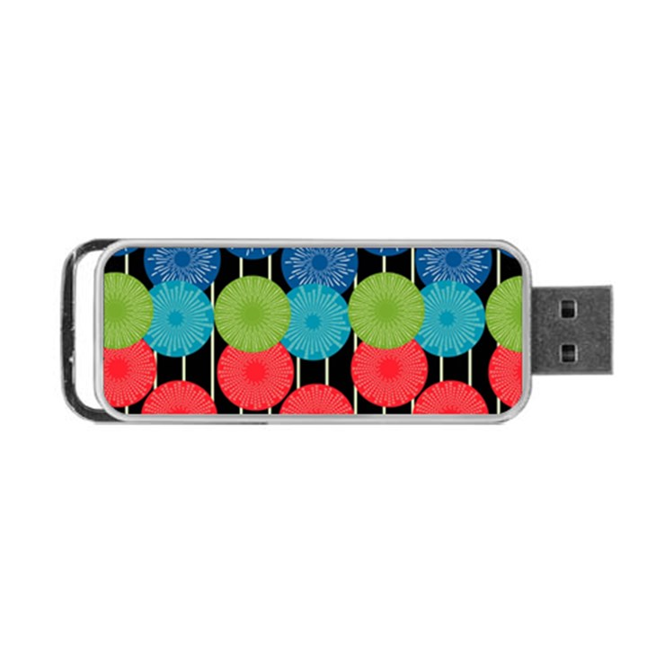 Vibrant Retro Pattern Portable USB Flash (One Side)