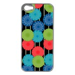 Vibrant Retro Pattern Apple iPhone 5 Case (Silver) Front