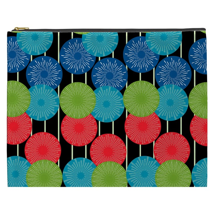 Vibrant Retro Pattern Cosmetic Bag (XXXL)
