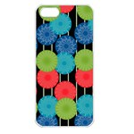 Vibrant Retro Pattern Apple iPhone 5 Seamless Case (White) Front