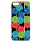 Vibrant Retro Pattern Apple Seamless iPhone 5 Case (Clear) Front
