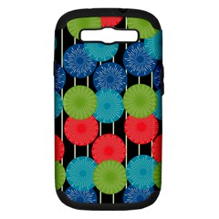 Vibrant Retro Pattern Samsung Galaxy S III Hardshell Case (PC+Silicone)