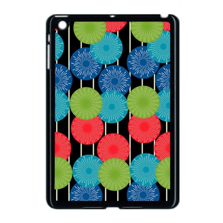 Vibrant Retro Pattern Apple iPad Mini Case (Black)