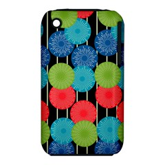 Vibrant Retro Pattern Apple Iphone 3g/3gs Hardshell Case (pc+silicone)