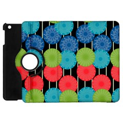 Vibrant Retro Pattern Apple Ipad Mini Flip 360 Case