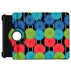 Vibrant Retro Pattern Kindle Fire Hd Flip 360 Case