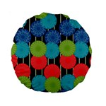 Vibrant Retro Pattern Standard 15  Premium Round Cushions Front