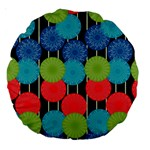 Vibrant Retro Pattern Large 18  Premium Round Cushions Front