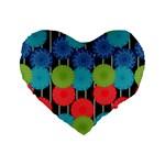 Vibrant Retro Pattern Standard 16  Premium Heart Shape Cushions Front