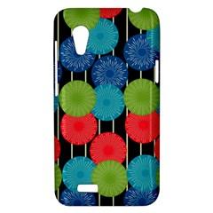 Vibrant Retro Pattern HTC Desire VT (T328T) Hardshell Case