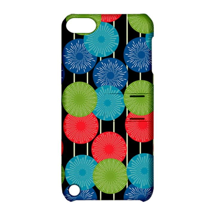 Vibrant Retro Pattern Apple iPod Touch 5 Hardshell Case with Stand