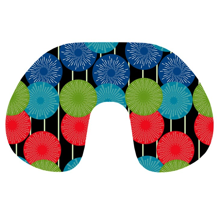 Vibrant Retro Pattern Travel Neck Pillows