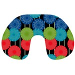 Vibrant Retro Pattern Travel Neck Pillows Back