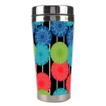 Vibrant Retro Pattern Stainless Steel Travel Tumblers Left