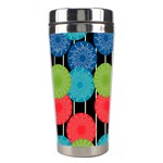 Vibrant Retro Pattern Stainless Steel Travel Tumblers Center