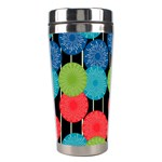 Vibrant Retro Pattern Stainless Steel Travel Tumblers Right