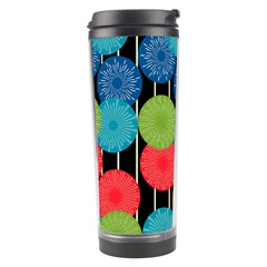 Vibrant Retro Pattern Travel Tumbler