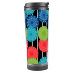 Vibrant Retro Pattern Travel Tumbler Left