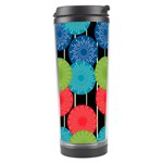Vibrant Retro Pattern Travel Tumbler Center
