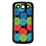 Vibrant Retro Pattern Samsung Galaxy S3 Back Case (Black) Front