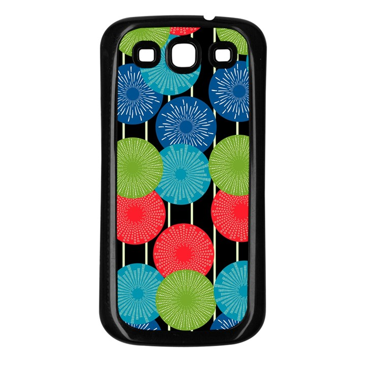 Vibrant Retro Pattern Samsung Galaxy S3 Back Case (Black)