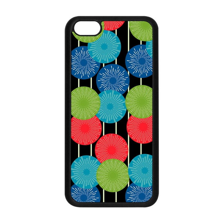 Vibrant Retro Pattern Apple iPhone 5C Seamless Case (Black)