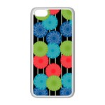 Vibrant Retro Pattern Apple iPhone 5C Seamless Case (White) Front