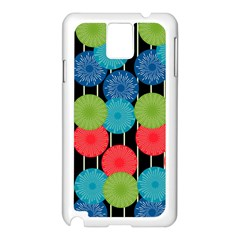 Vibrant Retro Pattern Samsung Galaxy Note 3 N9005 Case (White)