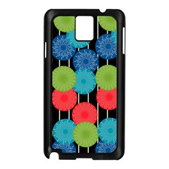 Vibrant Retro Pattern Samsung Galaxy Note 3 N9005 Case (black)