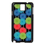 Vibrant Retro Pattern Samsung Galaxy Note 3 N9005 Case (Black) Front