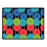 Vibrant Retro Pattern Double Sided Fleece Blanket (Small)  50 x40 Blanket Front
