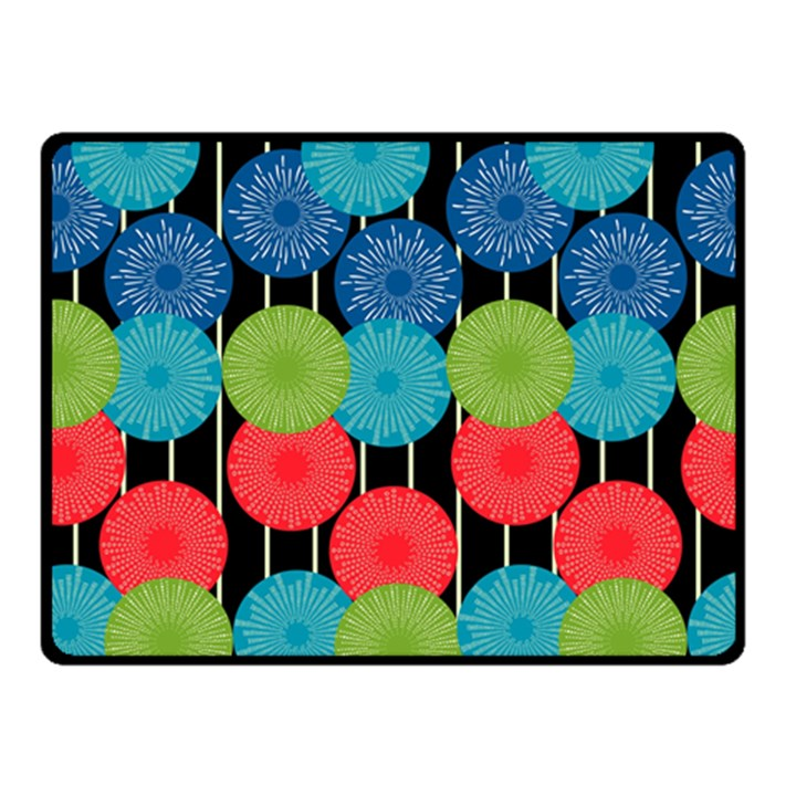 Vibrant Retro Pattern Double Sided Fleece Blanket (Small)