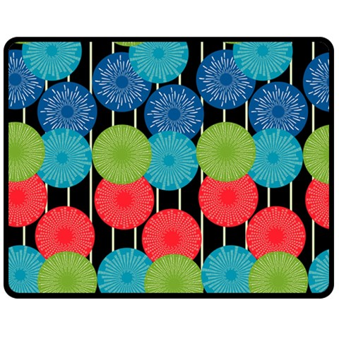 Vibrant Retro Pattern Double Sided Fleece Blanket (Medium)