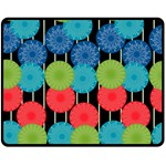 Vibrant Retro Pattern Double Sided Fleece Blanket (Medium)  60 x50 Blanket Back