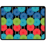 Vibrant Retro Pattern Double Sided Fleece Blanket (Large)  80 x60 Blanket Front