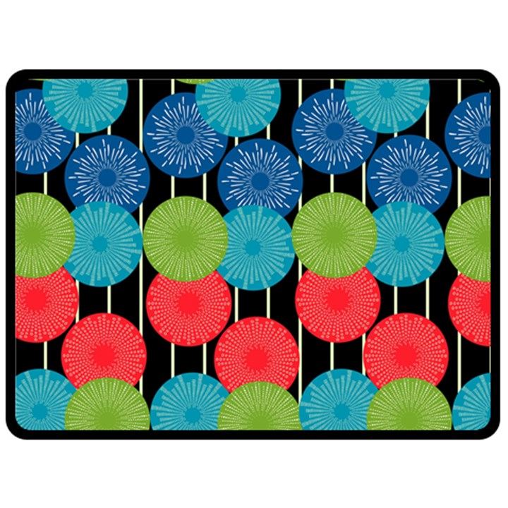 Vibrant Retro Pattern Double Sided Fleece Blanket (Large)