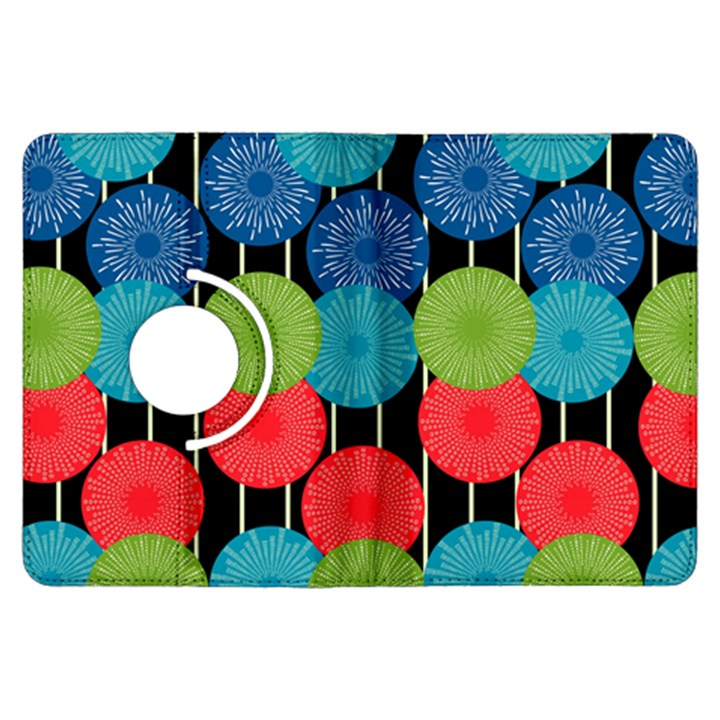 Vibrant Retro Pattern Kindle Fire HDX Flip 360 Case