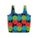 Vibrant Retro Pattern Full Print Recycle Bags (S)  Back