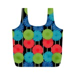 Vibrant Retro Pattern Full Print Recycle Bags (M)  Back
