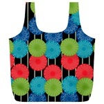 Vibrant Retro Pattern Full Print Recycle Bags (L)  Back