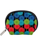 Vibrant Retro Pattern Accessory Pouches (Small)  Front