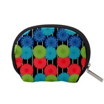 Vibrant Retro Pattern Accessory Pouches (Small)  Back